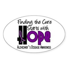 HOPE Alzheimer's Disease 4 Oval Decal