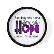 HOPE Alzheimer's Disease 4 Wall Clock