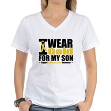 I Wear Gold For My Son Shirt