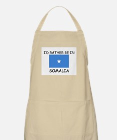 I'd rather be in Somalia BBQ Apron