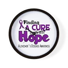 HOPE Alzheimer's Disease 5 Wall Clock