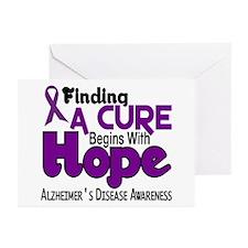 HOPE Alzheimer's Disease 5 Greeting Cards (Pk of 2