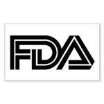 FDA Logo - Rectangle Sticker