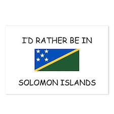 I'd rather be in Solomon Islands Postcards (Packag
