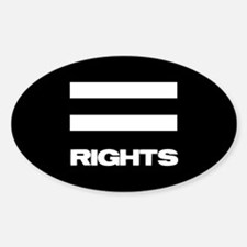 EQUAL RIGHTS - Oval Decal