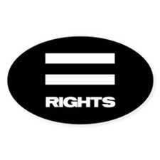 EQUAL RIGHTS - Oval Stickers