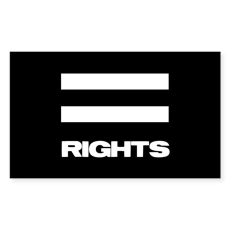 EQUAL RIGHTS - Rectangle Sticker