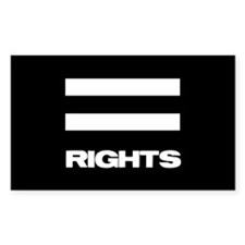 EQUAL RIGHTS - Rectangle Stickers