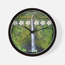 Unique Akaka falls Wall Clock