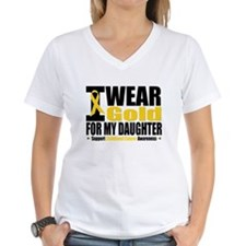 I Wear Gold For My Daughter Shirt