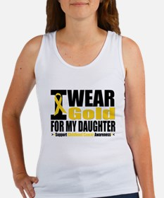 I Wear Gold For My Daughter Women's Tank Top