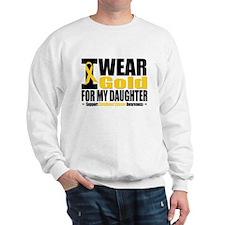 I Wear Gold For My Daughter Sweatshirt