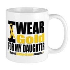 I Wear Gold For My Daughter Mug
