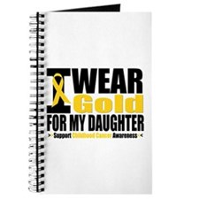 I Wear Gold For My Daughter Journal