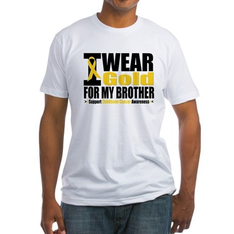 I Wear Gold For My Brother Fitted T-Shirt