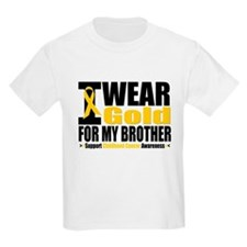 I Wear Gold For My Brother T-Shirt