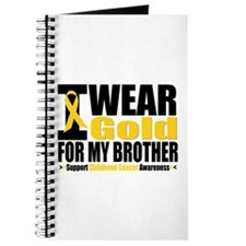 I Wear Gold For My Brother Journal