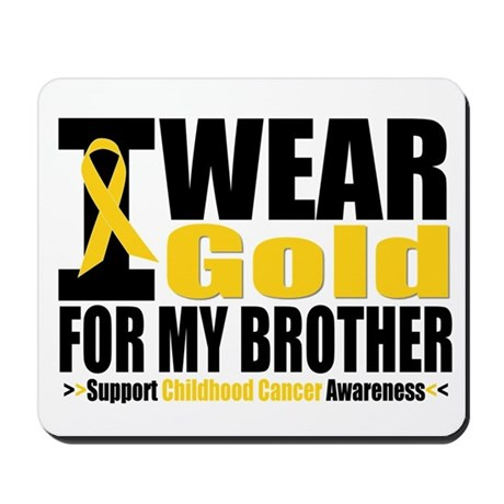 I Wear Gold For My Brother Mousepad