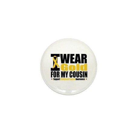 I Wear Gold For My Cousin Mini Button (10 pack)