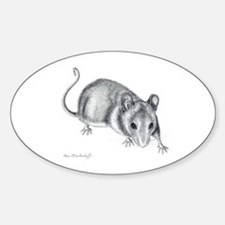 Adorable Mouse ~ Oval Decal