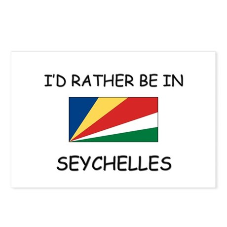 I'd rather be in Seychelles Postcards (Package of