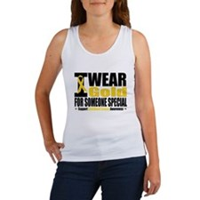 I Wear Gold Someone Special Women's Tank Top