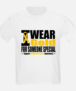 I Wear Gold Someone Special T-Shirt