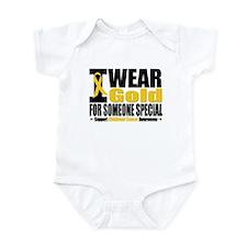I Wear Gold Someone Special Infant Bodysuit