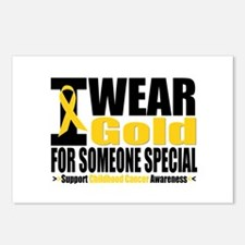 I Wear Gold Someone Special Postcards (Package of