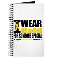 I Wear Gold Someone Special Journal