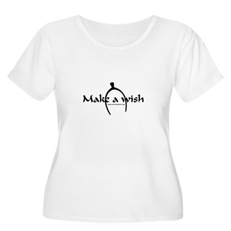 Make A Wish Women's Plus Size Scoop Neck T-Shirt