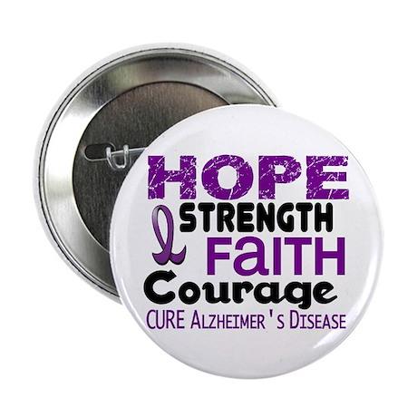 """HOPE Alzheimer's Disease 3 2.25"""" Button"""