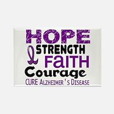 HOPE Alzheimer's Disease 3 Rectangle Magnet