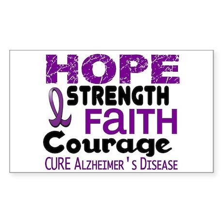 HOPE Alzheimer's Disease 3 Rectangle Sticker