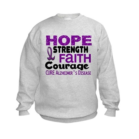 HOPE Alzheimer's Disease 3 Kids Sweatshirt
