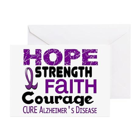 HOPE Alzheimer's Disease 3 Greeting Cards (Pk of 2