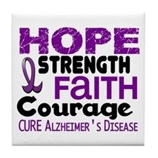 HOPE Alzheimer's Disease 3 Tile Coaster