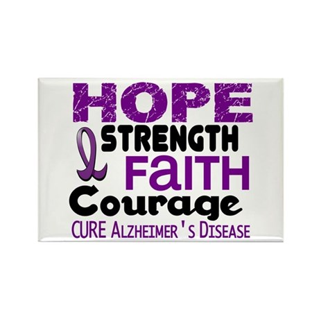 HOPE Alzheimer's Disease 3 Rectangle Magnet (10 pa