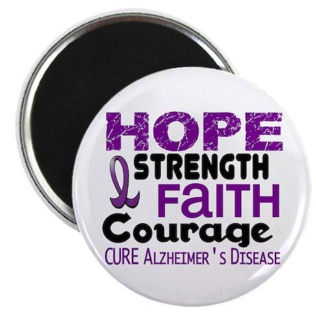 """HOPE Alzheimer's Disease 3 2.25"""" Magnet (100 pack)"""
