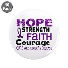 """HOPE Alzheimer's Disease 3 3.5"""" Button (10 pack)"""