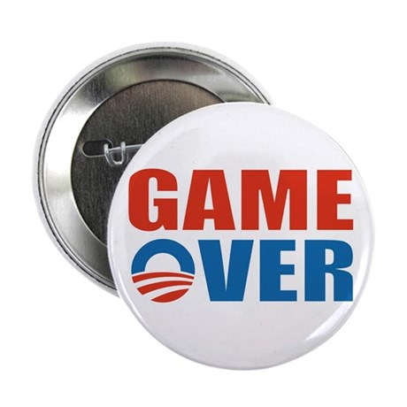 """Game Over (Obama) 2.25"""" Button (10 pack)"""