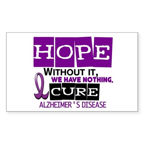 HOPE Alzheimer's Disease 2 Rectangle Sticker
