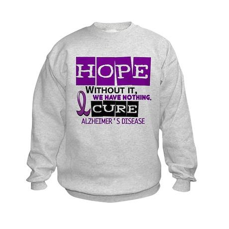 HOPE Alzheimer's Disease 2 Kids Sweatshirt