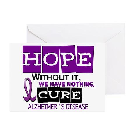 HOPE Alzheimer's Disease 2 Greeting Cards (Pk of 1