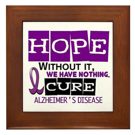 HOPE Alzheimer's Disease 2 Framed Tile