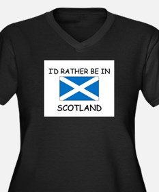 I'd rather be in Scotland Women's Plus Size V-Neck