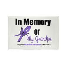 Alzheimer's Memory Grandpa Rectangle Magnet