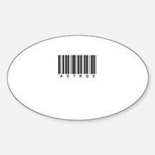 Astros Oval Sticker (10 pk)