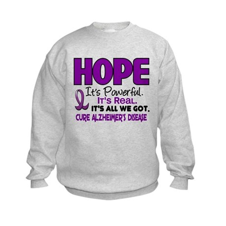 HOPE Alzheimer's Disease 1 Kids Sweatshirt