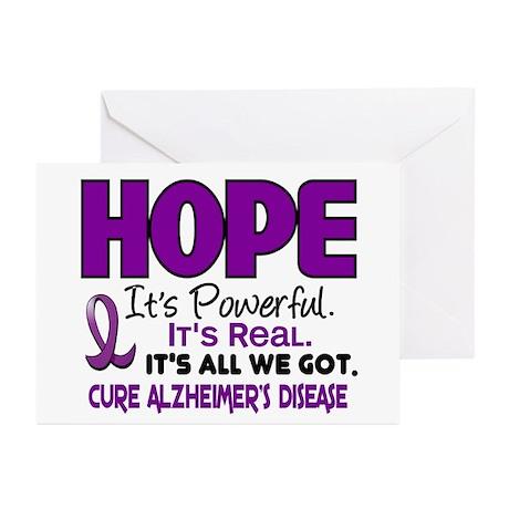 HOPE Alzheimer's Disease 1 Greeting Cards (Pk of 2